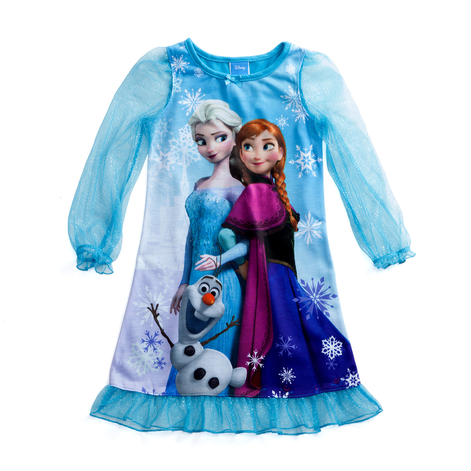 Disney Frozen Sisters and Olaf Blue Pajama Gown