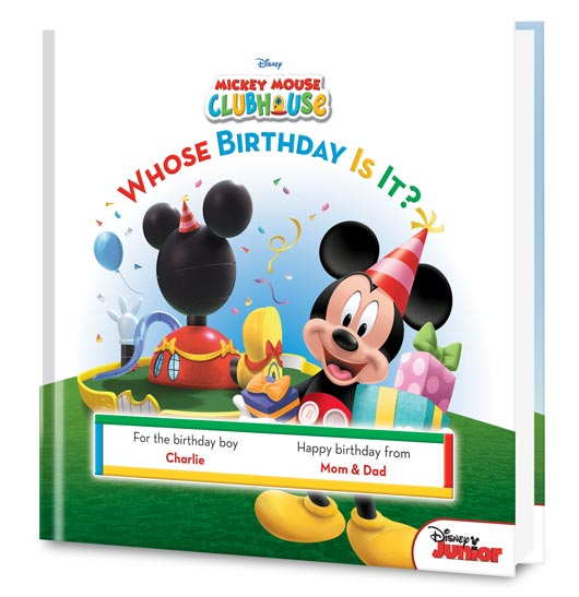 Disney's Mickey Mouse: Whose Birthday is It? Personalized Book