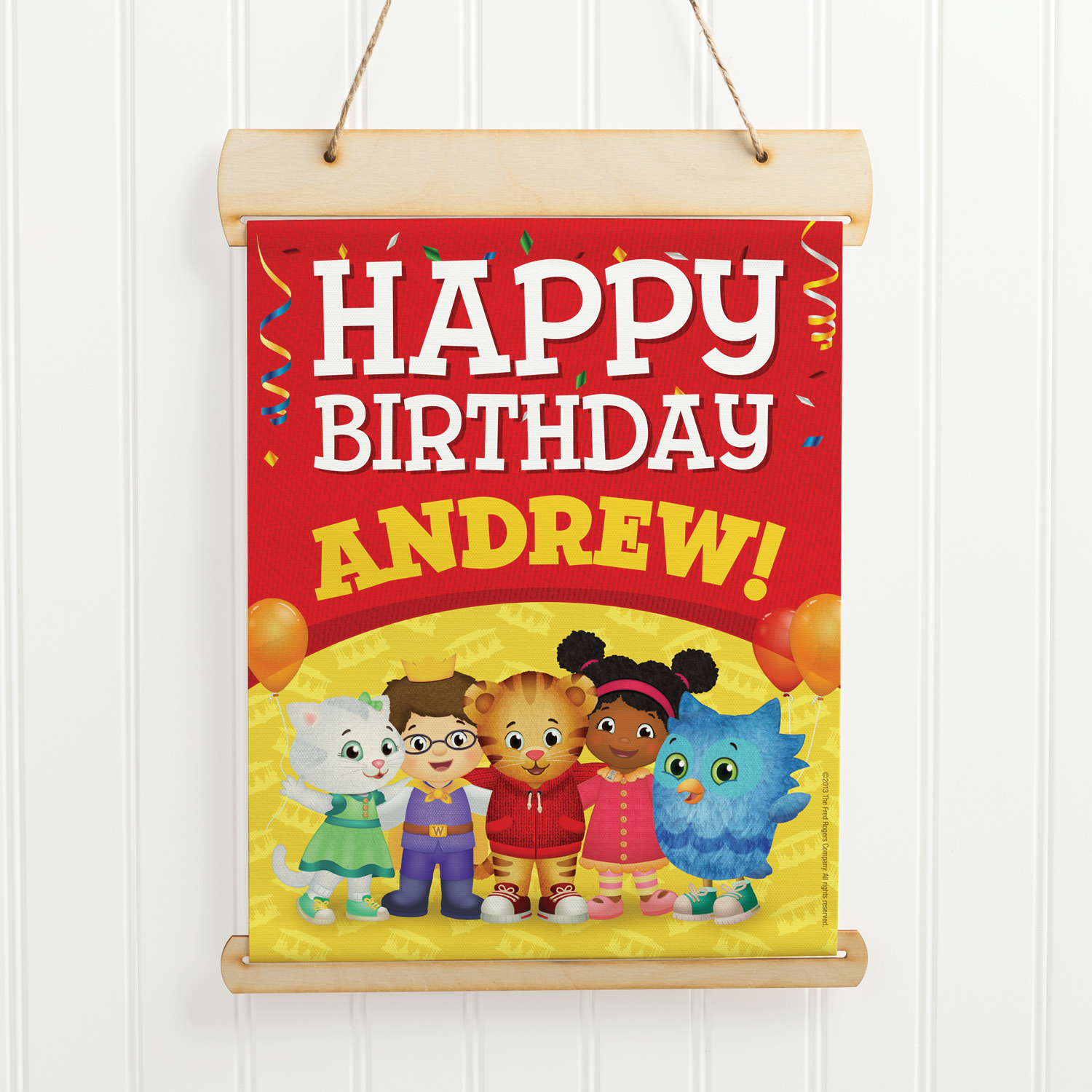 Buy Daniel Tiger Hanging Birthday Sign